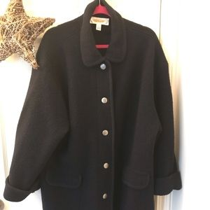 Talbot's Navy Blue Wool Coat L Women's.